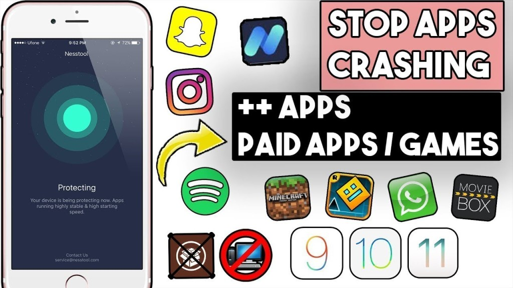 NEW STOP Apps Crashing Get PAID & Hacked Apps FREE iOS 11